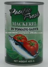 Canned Mackerel in Tomato Sauce (425g tall can)