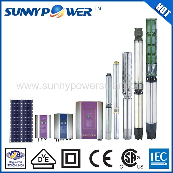 Factory direct 600-4000W submersible pump solar water pump