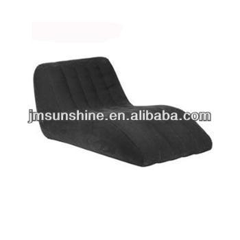 Inflatable room furnitures modern flocking sofa/air filled flocked sofa