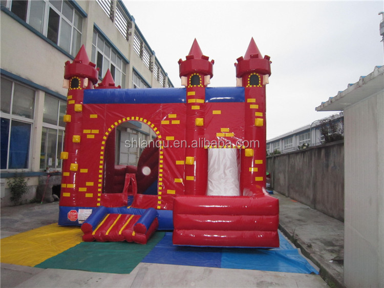 Red Color Kids Mini Inflatable Slide Bouncer Indoor Jump House