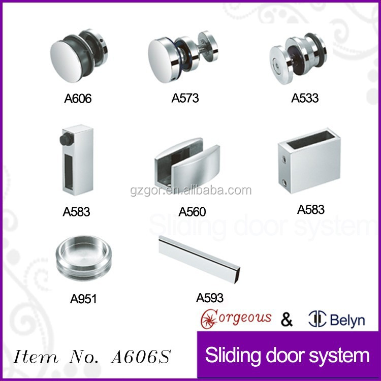 moving door glass stainless steel pulley for A606S