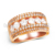 Luxury design diamond ring top grade silver jewery women wedding ring