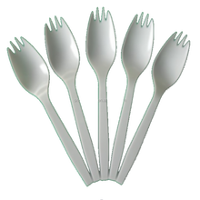 China good quality PS Cutlery White Plastic Spork