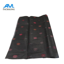 black wholesale custom printing logo and size gift wrapping silk tissue paper
