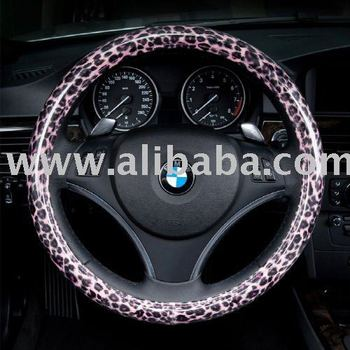 Tiger skin(Pink) pattern Steering Wheel Cover made by Korea's RunwayCar (It's time to dress car up)