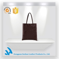 hot selling brown handbags with double handle