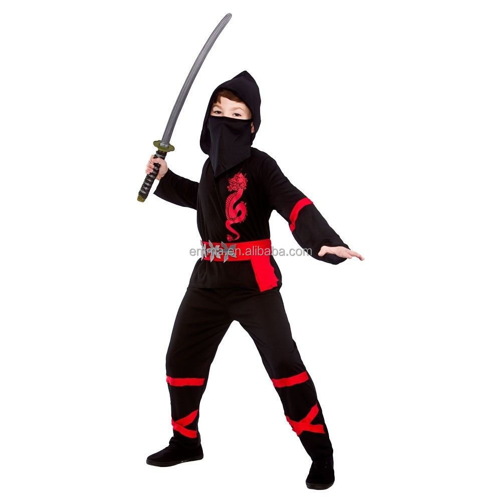 Kids Power Boys Martial Arts Ninja Fancy Dress Costume warrior costume CC1039
