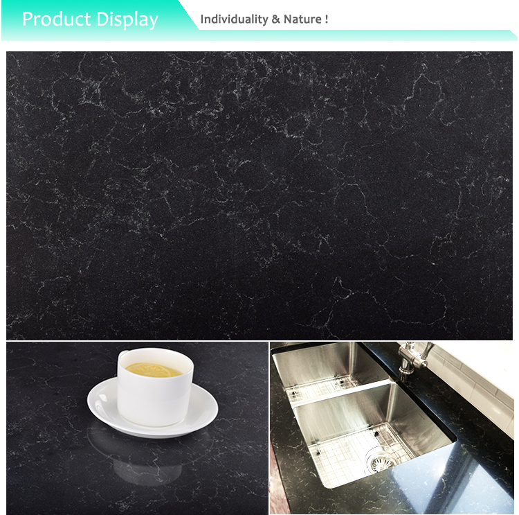 New Product Carrera Black Artificial Quartz Stone