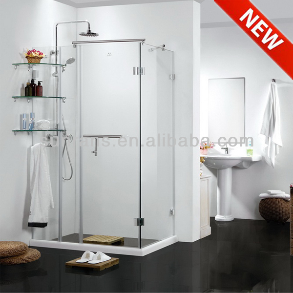 8MM tempered glass shower portable shower screen