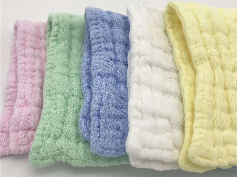 100% Cotton Muslin Baby hand towel Super Soft Baby Washcloths