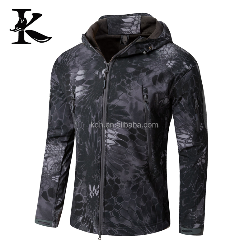 Waterproof windproof military jacket outdoor hunting clothing for men