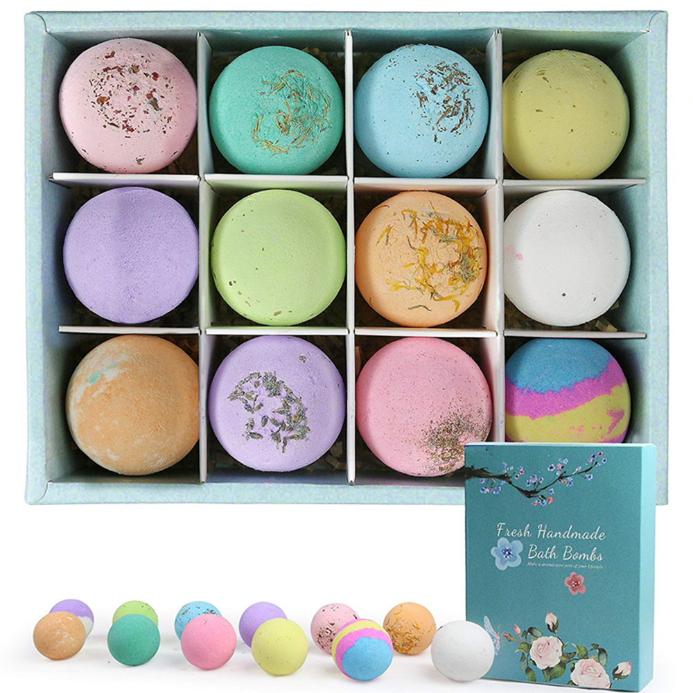 Wholesale Natural 12 Fizzy Bath Bomb Set