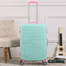 2016 eminent trolley verage hello kitty suitcase travel trolley luggage bag for women