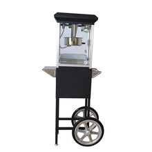 Used popcorn machines for sale with warming showcase CE approved industrial hot air popcorn making machine