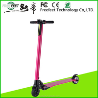 Freefeet wholesale high quality 6.5 inch mini retro pink rechargeable electric scooter for sale