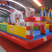 High quality indoor soft equipment PVC material children inflables castle