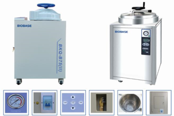 Hand Wheel Vertical Autoclave Sterilizer/adopting certain temperature exhaust method