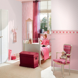 New Arrival Pink Kids Wallpaper Vinyl and Non-woven Wallcovering for Girls Myhome