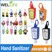 Ningbo factory wholesale 30ml Customized silicone rubber hand sanitizer case hand sanitizer with silicone holder