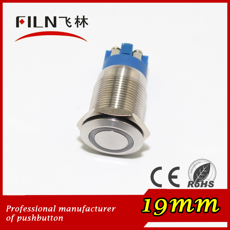 CE, ROHS 6 screw pin Diameter 19mm round ring 3a 250v press metal snap button