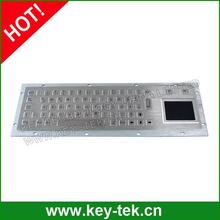 Vandalproof metallic short travel keyboard with touchpad