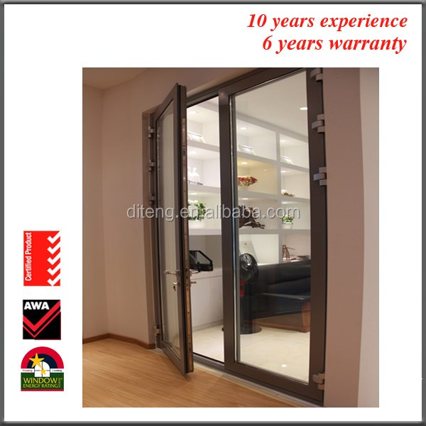 Cheap Aluminum Casement Doors Powder Coating Aluminum Casement Doors Design Interior Position Made in China Windows and Doors
