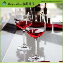 Healthy Custom glass wine goblet set,wide mouth wine glass wholesale