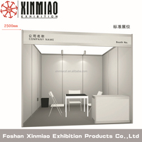 3*3*2.5M Aluminum Extrusion Trade Show Exhibition Display Booth/Trade Fair Booth Modular Display with Factory Price