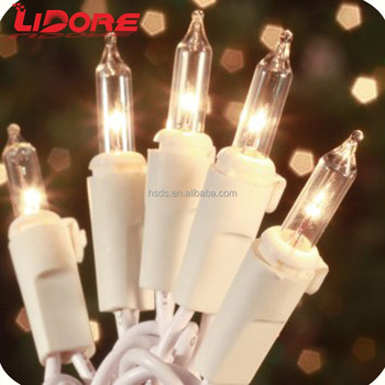 UL holiday clear string ights christmas tree string lights traditional mini string lights