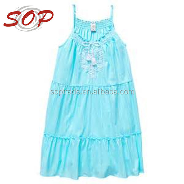 2016 latest boutique tiered dress for little baby girls from guangzhou chinese manufacture