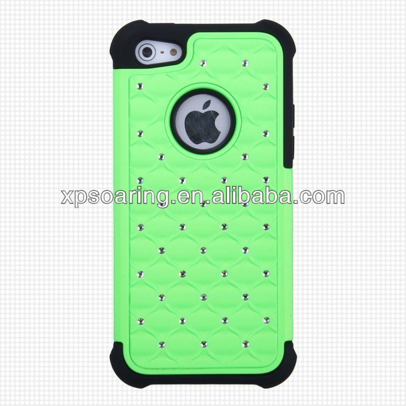for iphone 5C bling bling cellphone case silicone cover
