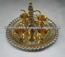 Brass Aftaba Set with Tray and Cups