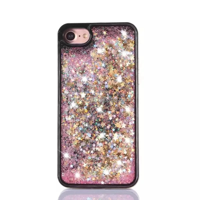 For iphone 7 7 plus Bling Liquid TPU Cell Phone Cases Cover For Apple iPhones Compatible Brand