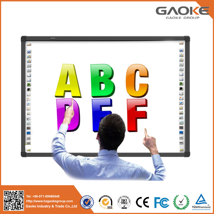 Optical technology digital IWB magnetic smart boards with smart pens white board interactive whiteboard with metal panel