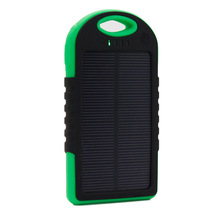 solar charger 5000mAh Portable Solar Power Bank Waterproof/Shockproof/Dustproof Dual USB Battery Bank for cell phone,iPhone,Sams