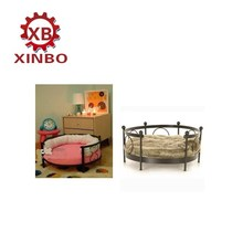 XINBO HOT selling best selling pet products cheap and cute round metal frame pet dog and cat bed
