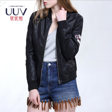 2017 New Products Latest Custom Woman Leather Jackets Varsity Jacket With Leather Sleeves