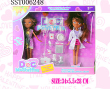 black sister doll doctor set, sex girl doll toy