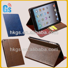 New Items Retro Leather Case Crazy Horse Line Slim With Stand and Card Holder for iPad Mini 2