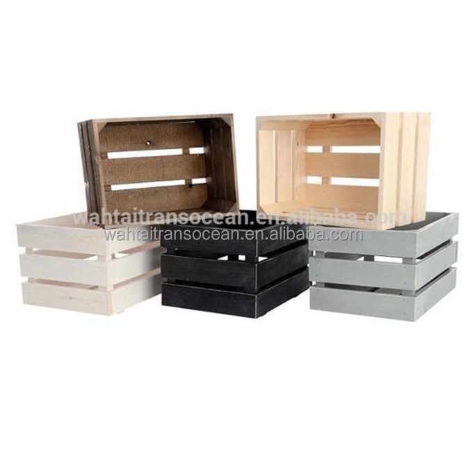 Colorful wooden fruit vegetables storage crate for sale