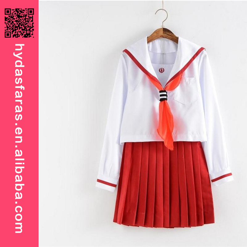 High Quality Long-sleeved Top+Pleated Skirts Suit Academic Japanese School Uniform Girls