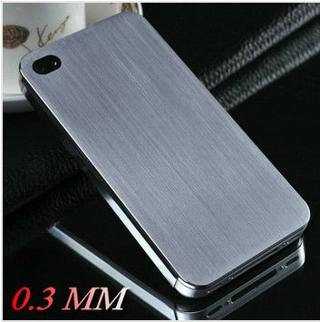 Laudtec Hot 0.3mm Thin Brushed Aluminum case for iphone 4 4s New Arrival Hard back cover for iphone 4g Mesh metal