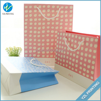 2015 Durable Luxury Shopping Paper Bag with ribbon handle