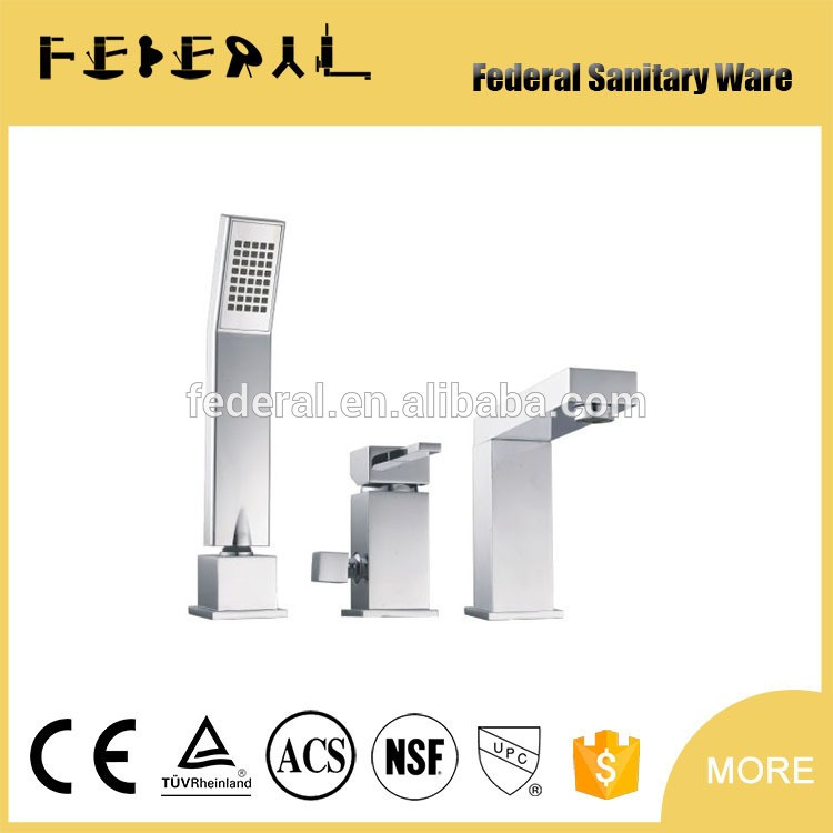 Federal Brass Shower Faucet Body Valve Concealed Square Bath Shower Mixer for Bathroom Showering System made in yuhhuan