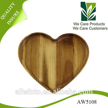 Best selling products,Heart Shape Wooden Candy Tray Wooden Fruit Tray