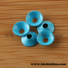 Attractive tungsten brass fishing beads tube disc