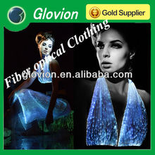 Luminous fiber optical fabric Flashing clothes led luminous clothes led flashing light for clothes