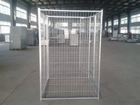 Hot dipped galvanized dog cage