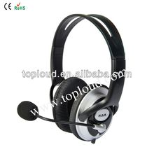 Cheap computer headset with flexible boom microphone durable quality