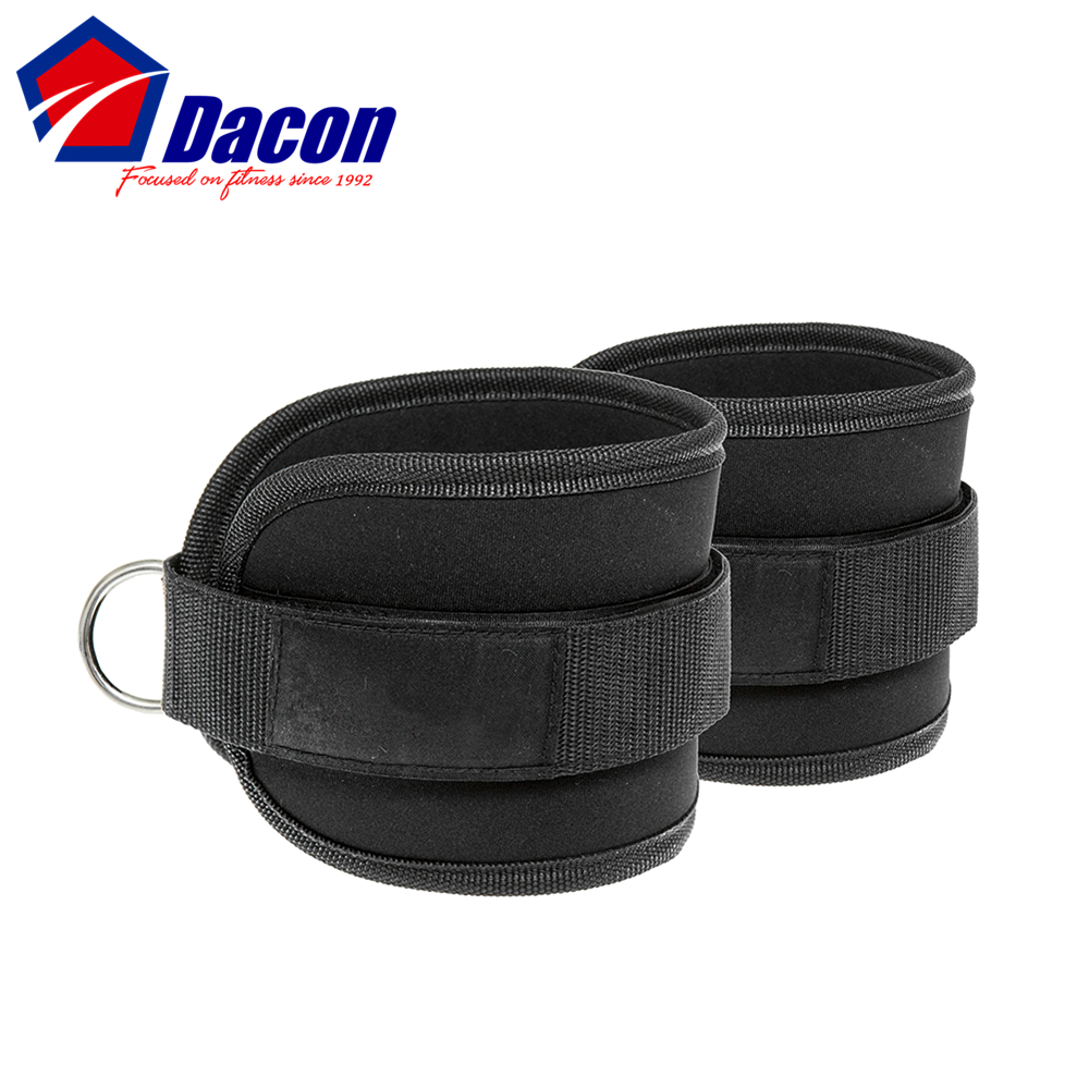 Neoprene Padded Ankle Straps with D-ring